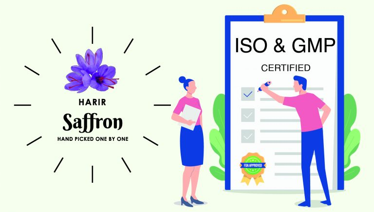 Harir Saffron is now GMP and FDA certified