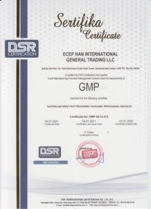 Good Manufacturing Practices GMP Certification