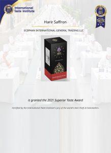 Superior Taste Award from International Taste Institute